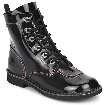 Bottines / Boots Kickers KICK MOOD Noir Vernis 350x350