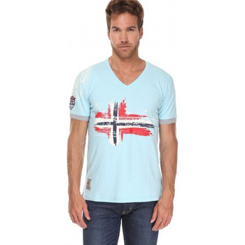 Vêtements Homme T-shirts manches courtes Geographical Norway T-shirt Géographical norway  T-shirt Jirish Bleu Bleu