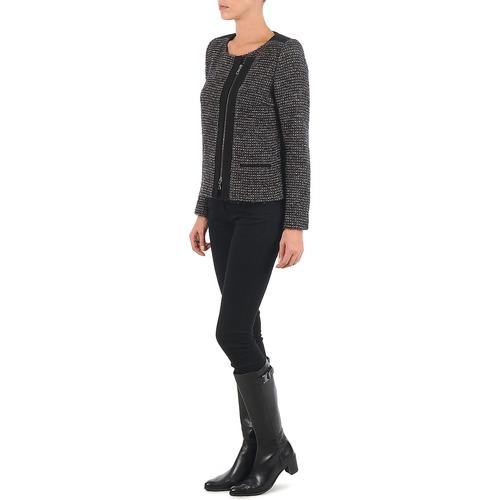 VIE LUREX  Lola  vestes / blazers  femme  noir / beige
