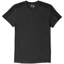 Vêtements Homme T-shirts manches courtes adidas Performance T-shirt 3 bandes Sport Essentials Black Vis Mel. / Black
