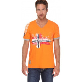 T-shirts manches courtes Geographical Norway T-shirt Géographical norway T-shirt Jirish Orange
