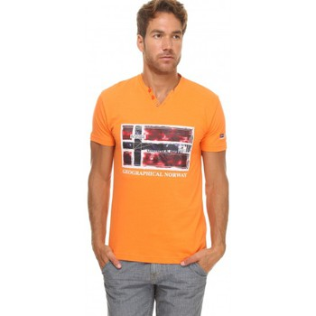 Vêtements Homme T-shirts manches courtes Geographical Norway T-shirt Géographical norway  T-shirt Jeridis Orange Orange