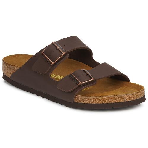 Chaussures Mules Birkenstock ARIZONA Marron foncé