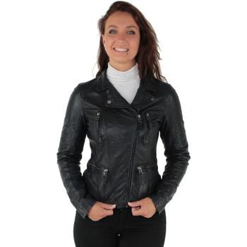 Vêtements Femme Blousons Oakwood Blouson style perfecto  Camera en cuir ref_ Marine