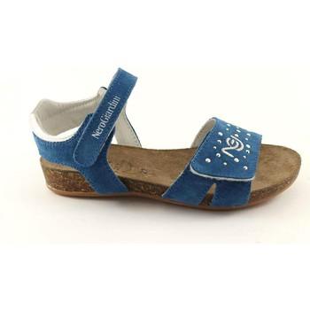 Chaussures Enfant Sandales et Nu-pieds Nero Giardini BLACK JARDINS JUNIOR 31022 bleuet bleu sandales enfant liège + C Blu