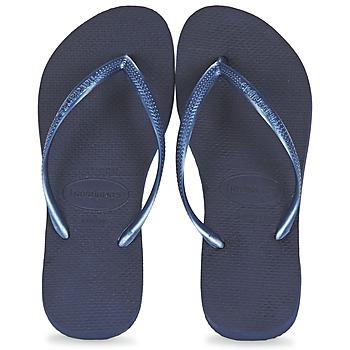 Chaussures Femme Tongs Havaianas SLIM Marine