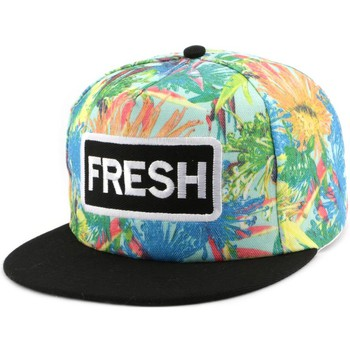 Casquettes Hip Hop Honour Snapback FRESH Bleue et Orange