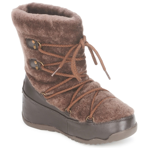 Chaussures Femme Bottes de neige FitFlop SUPERBLIZZ Chocolat