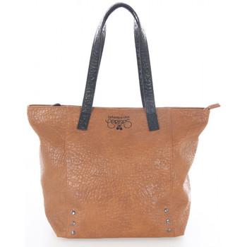 Sacs Femme Cabas / Sacs shopping Le Temps des Cerises Sac  Ilya 1 Cognac