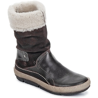 Chaussures Femme Boots Snipe POLIGHT SUEDE DOUBLE FACE CHOCOLATE BROWN