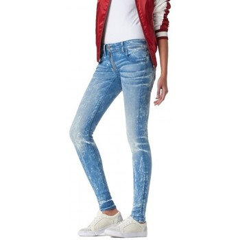 Vêtements Femme Jeans slim G-Star Raw Jeans  Lynn Zip Mid Waist Skinny Erron Stretch Denim Lt Aged Bleu