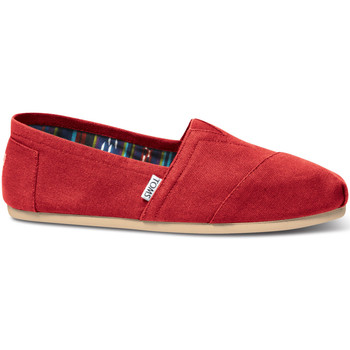 Toms Homme Espadrilles  Mens Red Canvas...