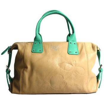 Sacs Femme Sacs porté main Le Temps des Cerises Sac  Elegance 6 Mastic/Vert 6887