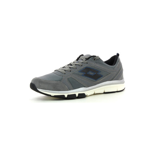 Lotto Grande NY AMF Gris - Chaussures Baskets basses Homme