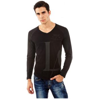 Vêtements Homme T-shirts manches longues Guess T-Shirt manches Longues BLOCK noir Noir