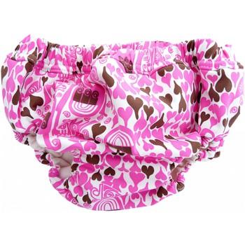 Vêtements Fille Maillots / Shorts de bain Princesse Ilou Maillot de bain bébé anti-fuite rose imprimé Coeur Rose