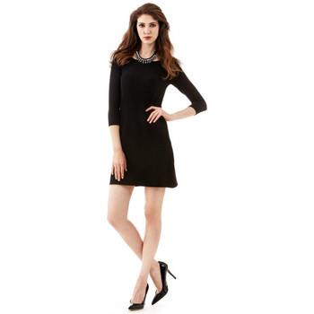 Vêtements Femme Robes courtes Guess Robe BARBARA coton/ strecht noir Noir