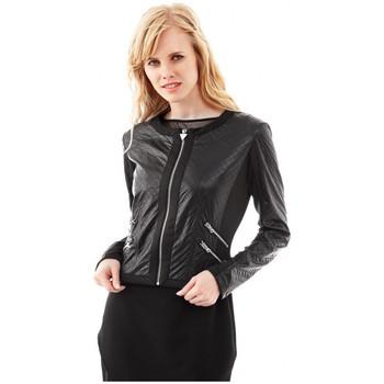 Vêtements Femme Blousons Guess Blouson LUIGIA noir W52L22 Noir