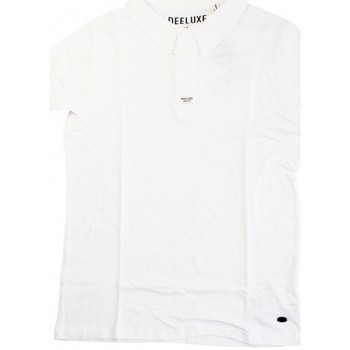 Vêtements Homme Polos manches courtes Deeluxe Polo  Slow Blanc Blanc