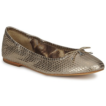 Chaussures Femme Ballerines / babies Sam Edelman FELICIA LIGHT GOLD METALLIC SNAKE