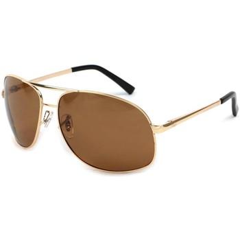 Montres & Bijoux Lunettes de soleil Eye Wear Lunettes Polarisante YouKnow avec monture dorée Jaune