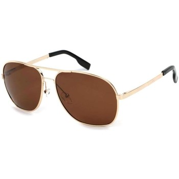Montres & Bijoux Lunettes de soleil Eye Wear Lunettes Polarisantes GiveUp avec monture dorée Jaune