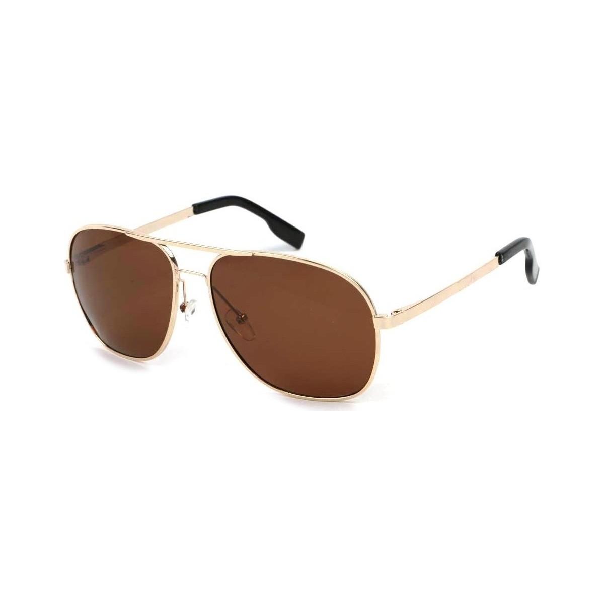 Eye Wear Lunettes Polarisantes GiveUp avec monture dorée Jaune