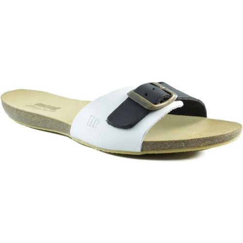 Chaussures Femme Sandales et Nu-pieds MTNG MUSTANG sandale plate BLANC