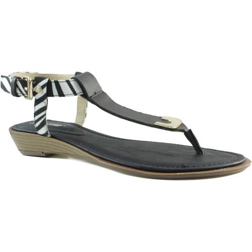 Chaussures Femme Tongs MTNG MUSTANG VACHE NOIR