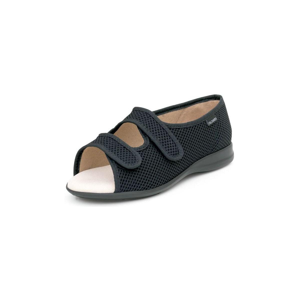 calzamedi velcro ouverte sandale orthop dique noir chaussures sandale femme 89 05. Black Bedroom Furniture Sets. Home Design Ideas