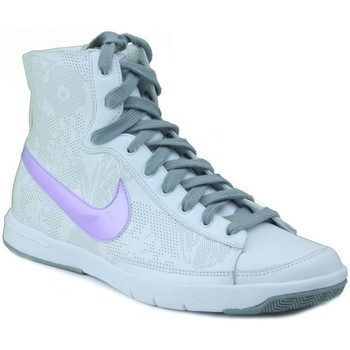 Chaussures Femme Baskets montantes Nike BLAZER MID W BLANC