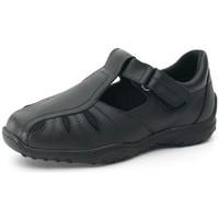 Chaussures Homme Derbies Calzamedi Sandale Herren diabetischen Fuß NOIR