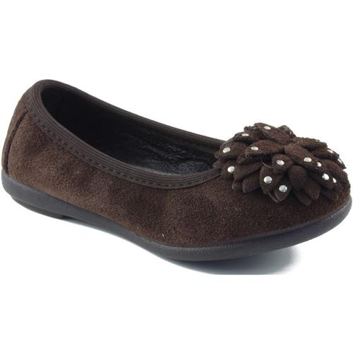 Chaussures Fille Ballerines / babies Vulladi Ballerine  de caoutchouc BRUN