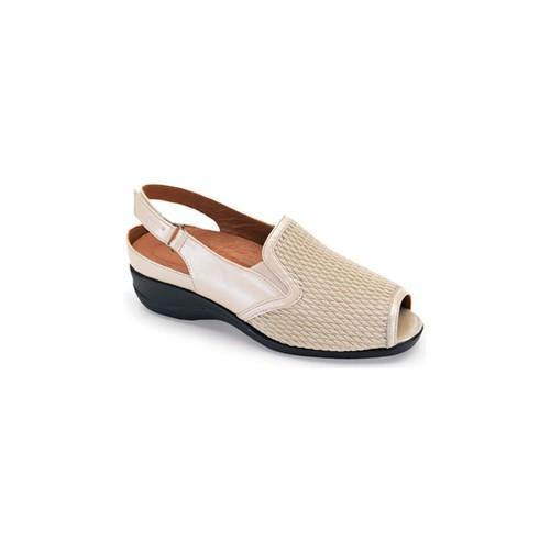 Chaussures Femme Sandales et Nu-pieds Calzamedi Lame élastique de santal BEIGE