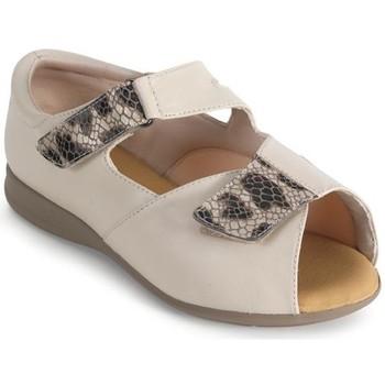 Chaussures Femme Sandales et Nu-pieds Calzamedi confortable femme orthopédique BEIGE