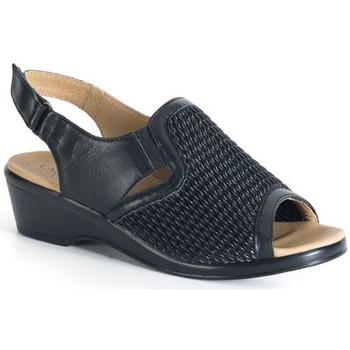 Chaussures Femme Sandales et Nu-pieds Calzamedi sandale confortable lame élastique NOIR