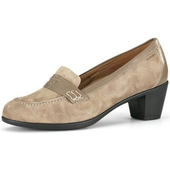 Chaussures Femme Escarpins Calzamedi Large mocassin  femme spéciale BEIGE
