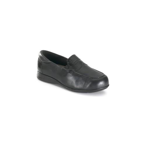 Chaussures Femme Mocassins Calzamedi large et confortable e supplémentaire BLACK