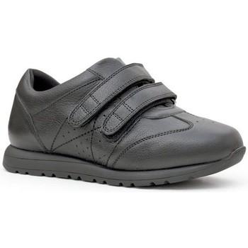 Chaussures Femme Ville basse Calzamedi Chaussures de Velcro unisexe NOIR