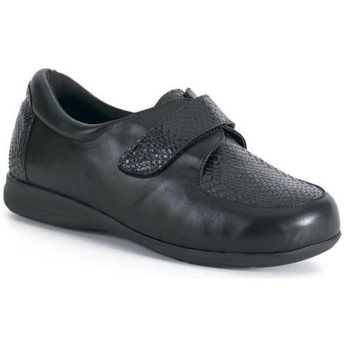 Chaussures Femme Derbies Calzamedi Mocassin  large et confortable avec NOIR