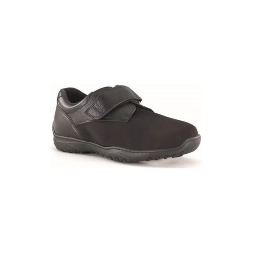 Chaussures Homme Derbies Calzamedi Velcro diabétique lame élastique NOIR