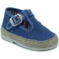 Chaussures Enfant Chaussons bébés Vulladi CANVAS BLEU