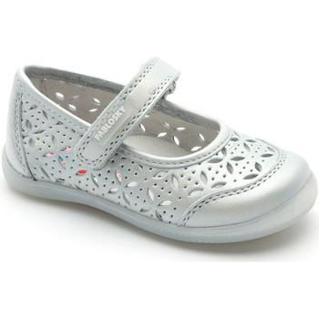Chaussures Fille Ballerines / babies Pablosky Danseur  avec velcro GRIS