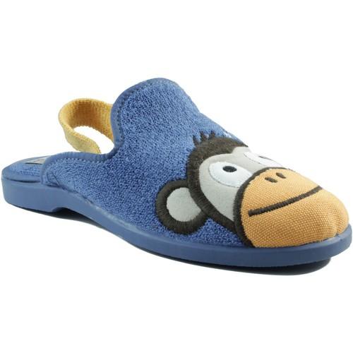Chaussures Enfant Chaussons Vulladi intérieur caoutchouc garçon BLEU