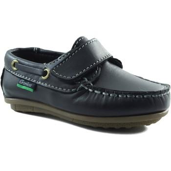 Chaussures Garçon Chaussures bateau Gorila enfant mocassin avec velcro MARIN