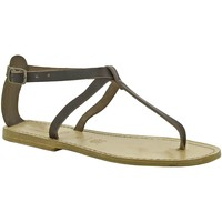 Chaussures Femme Sandales et Nu-pieds Gianluca - L'artigiano Del Cuoio 582 D MORO LGT-CUOIO Testa di Moro