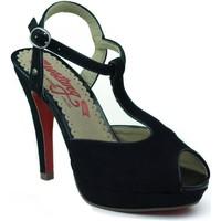 Chaussures Femme Sandales et Nu-pieds MTNG MUSTANG chaussures nubuck talon NOIR