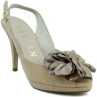 Chaussures Femme Sandales et Nu-pieds Marian Nubuck  robe en cuir chaussure BRUN