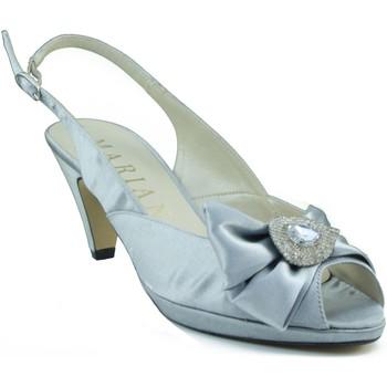 Chaussures Femme Sandales et Nu-pieds Marian talon moyen chaussure parti GRIS