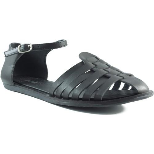 Chaussures Femme Sandales et Nu-pieds MTNG MUSTANG VACHE COFRI NOIR